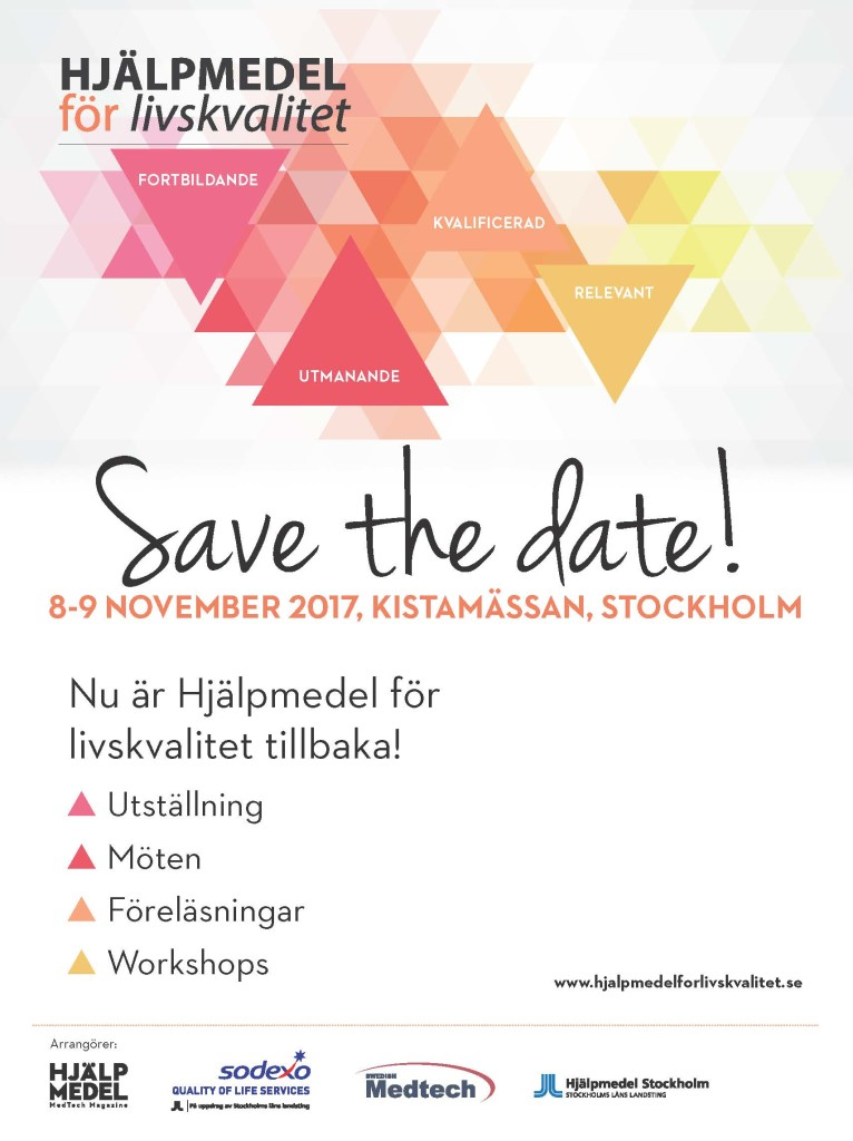 Save the date Hjälpmedel Livskvalitet